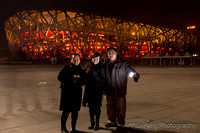 Night shoot at Olympic Stadium and visit by Snowywolf